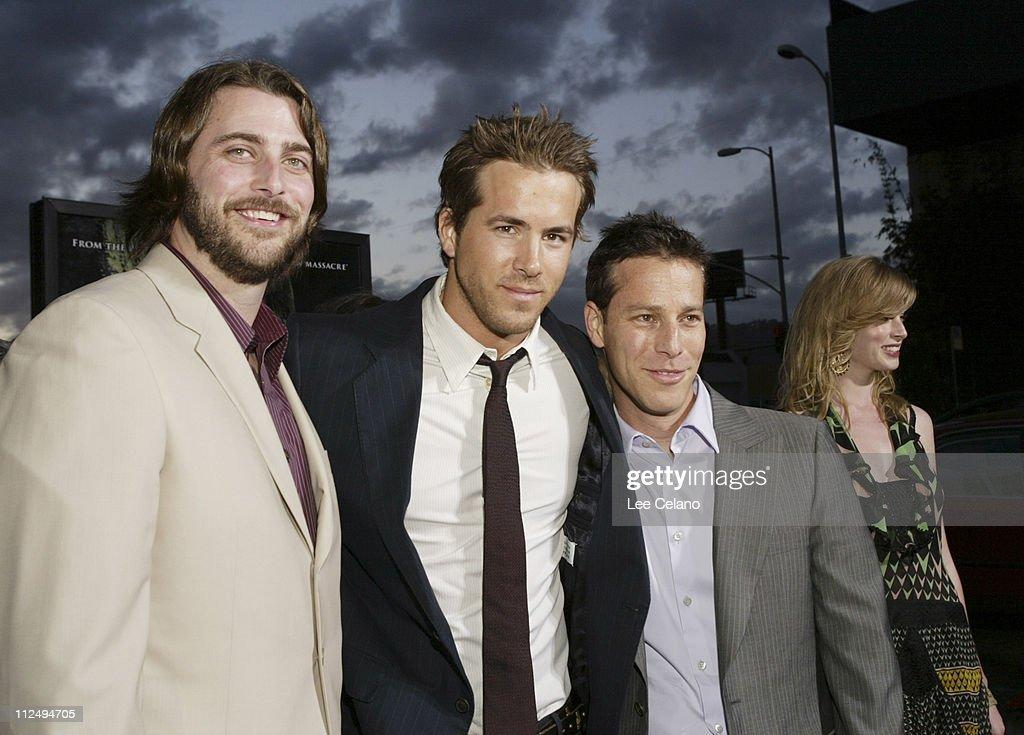 Andrew Form, producer, Ryan Reynolds and Brad Fuller, producer