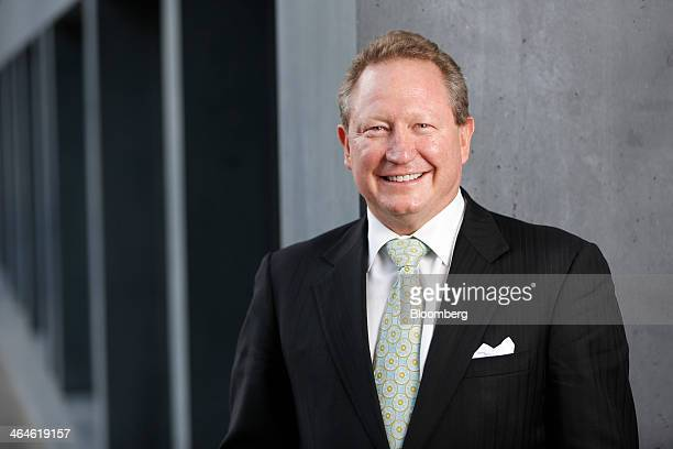 Andrew Forrest billionaire and chairman of Fortescue Metals Group Ltd poses for a photograph on day two of the World Economic Forum in Davos...