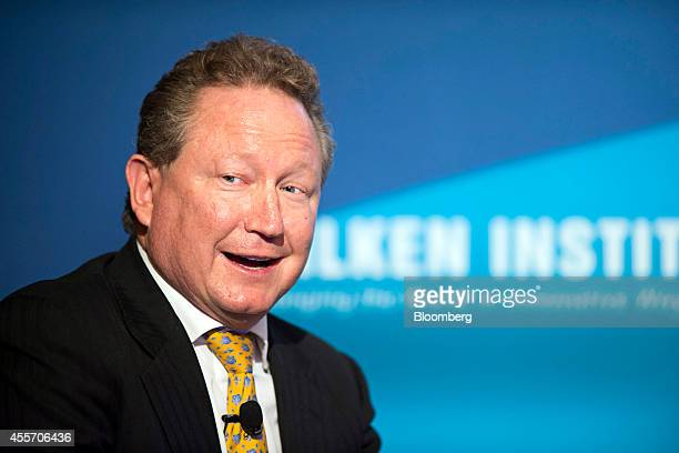 Andrew Forrest chairman of Fortescue Metals Group speaks at the Milken Institute Asia Summit in Singapore on Friday Sept 19 2014 Chief executive...