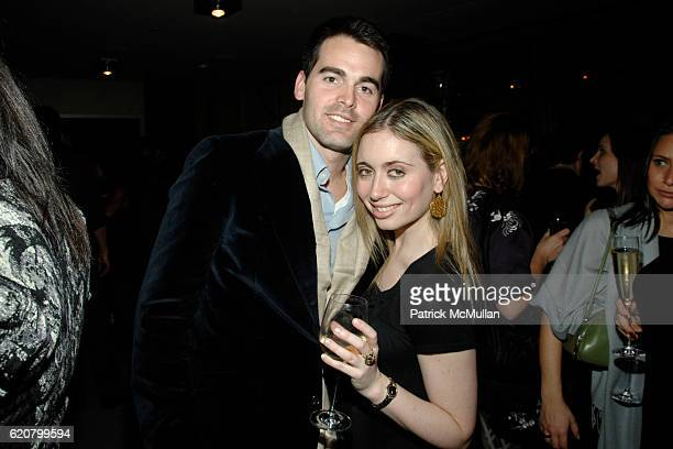 Andrew Freesmeier and Ali Jacobs attend THE CINEMA SOCIETY PIAGET host the after party for 'FLAWLESS' at Soho Grand Penthouse on March 24 2008 in New...