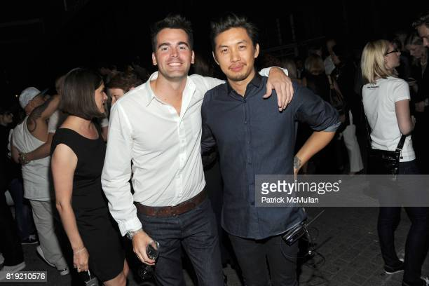 Andrew Freesmeier and Anthony Lau attend World of CALVIN KLEIN Party to Kickoff Spring 2011 Berlin Fashion Week at Die Munze on July 7 2010 in Berlin...
