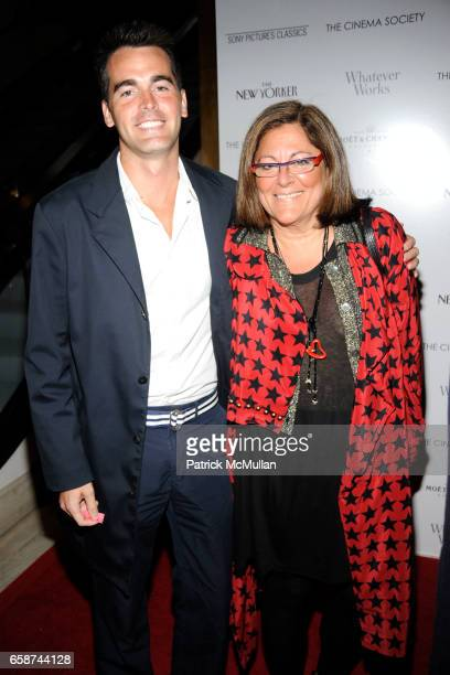 Andrew Freesmeier and Fern Mallis attend THE CINEMA SOCIETY THE NEW YORKER host a screening of 'WHATEVER WORKS' at Regal Cinema Battery Park on June...