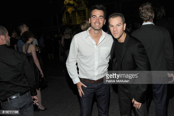 Andrew Freesmeier and Josh Reed attend World of CALVIN KLEIN Party to Kickoff Spring 2011 Berlin Fashion Week at Die Munze on July 7 2010 in Berlin...