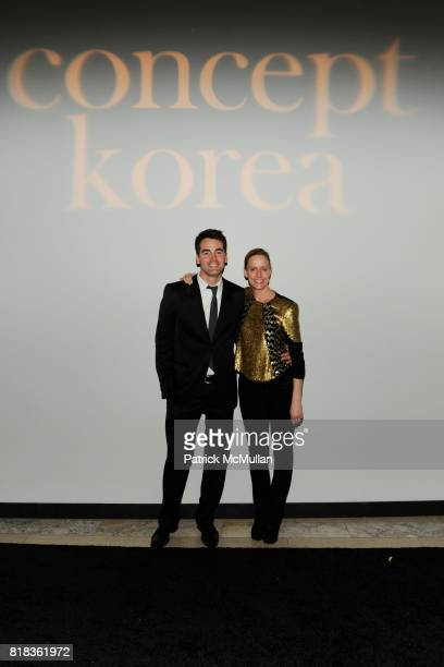 Andrew Freesmeier and Libby Haan attend The CFDA and SOUTH KOREAN GOVERNMENT Launch CONCEPT KOREA at The New York Public Library on February 12 2010...
