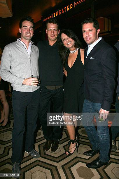 Andrew Freesmeier Brad Allen Emma SnowdonJones and David Bruing attend LIFE BALL 2008 Preview Party at Tribeca Grand on April 14 2008 in New York City