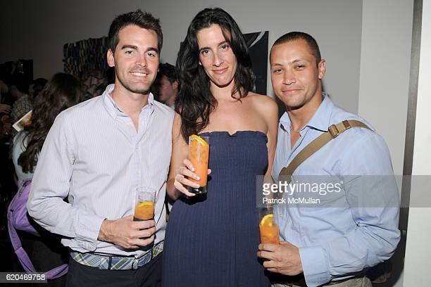 Andrew Freesmeier Elizabeth Colton and Jesse Gilmer attend HOUSE OF CAMPARI W MAGAZINE and PERFORMA host 'Defining a Moment 25 New York Artists'...