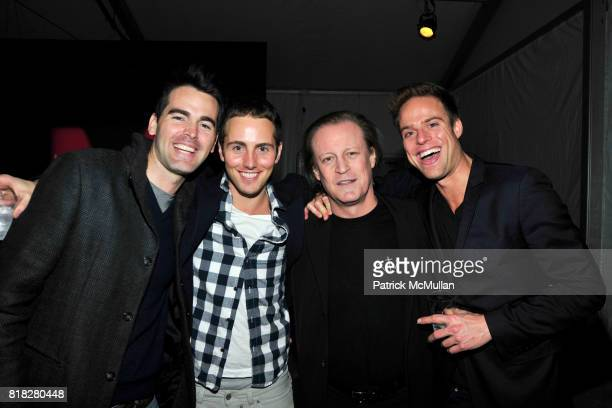 Andrew Freesmeier Paul Nahoun Patrick McMullan and JD Pell attend Closing Party for Bryant Park Tents at Bryant Park on February 18 2010 in New York...