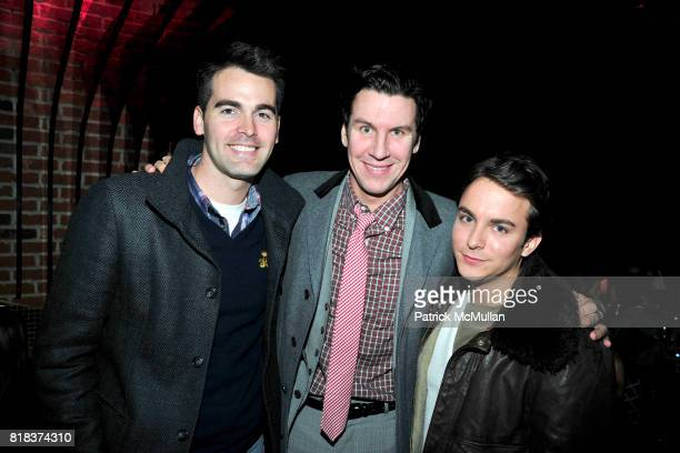 Andrew Freesmeier Peter Davis and Aaron Bakalar attend LAUNCH OF THE NEW MODELS HOTEL at Juliet Supper Club on February 8 2010 in New York City