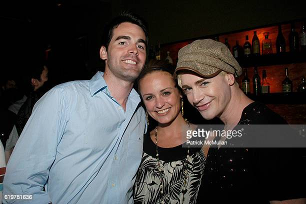 Andrew Freesmeier Suzanne Corn and Richie Rich attend Patrick McMullan HEATHERETTE LIFE BALL PHOTO SLIDE SHOW PARTY at Venue on June 11 2007 in New...