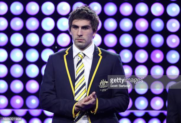 Andrew Gaff of the Eagles looks on during the 2018 AFL AllAustralia Awards at the Palais Theatre on August 29 2018 in Melbourne Australia