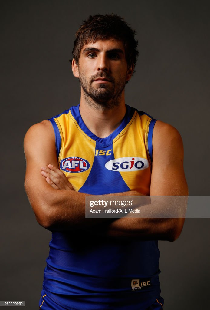 Andrew Gaff of the Eagles poses during the AFL Captains Day at Etihad Stadium on March 15, 2018 in Melbourne, Australia.