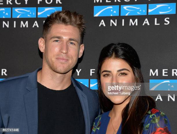 Andrew Gardner and Daniella Monet attend Mercy For Animals' annual Hidden Heroes Gala at Vibiana on September 23 2017 in Los Angeles California