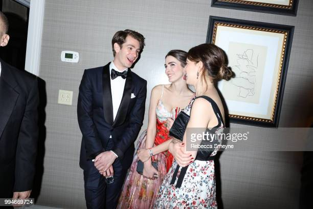 Andrew Garfield and Bee Shaffer attend the 10th Annual OM Tony Awards party at the Carlyle on June 10 2018 in New York New York
