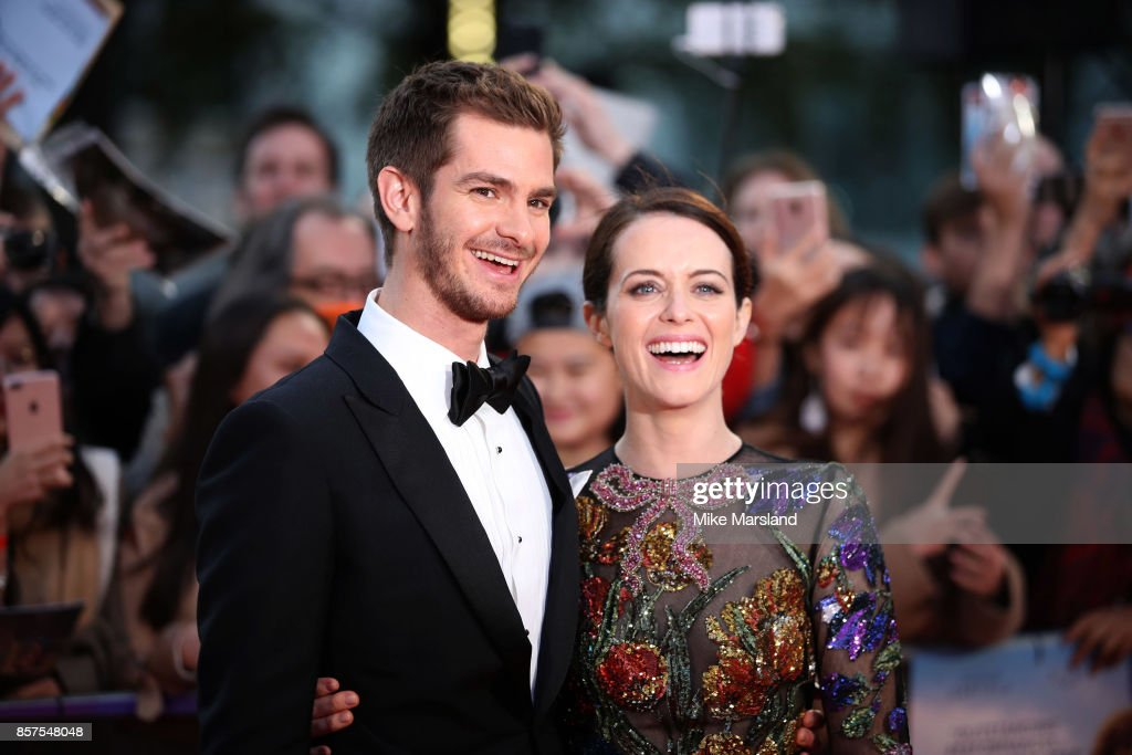 Andrew Garfield and Claire Foy attend the European Premiere of 'Breathe' on the opening night gala of the 61st BFI London Film Festival on October 4, 2017 in London, England.