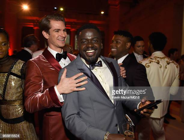 Andrew Garfield and Daniel Kaluuya attend the Heavenly Bodies Fashion The Catholic Imagination Costume Institute Gala at The Metropolitan Museum of...