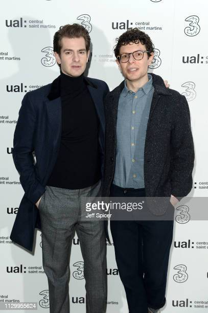 Andrew Garfield and Simon Amstell attend the Three Fashion Fuelled by 5G After Party following the Central St Martins MA Show during London Fashion...
