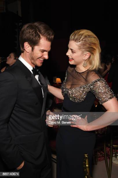 Andrew Garfield and Stefanie Martini attend the London Evening Standard Theatre Awards 2017 after party at the Theatre Royal Drury Lane on December 3...