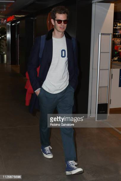 Andrew Garfield arrive ahead of Milan Fashion Week Autumn/Winter 2019/20 on February 19 2019 in Milan Italy