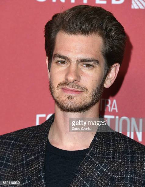 Andrew Garfield arrives at the SAGAFTRA Foundation Patron of the Artists Awards 2017 on November 9 2017 in Beverly Hills California