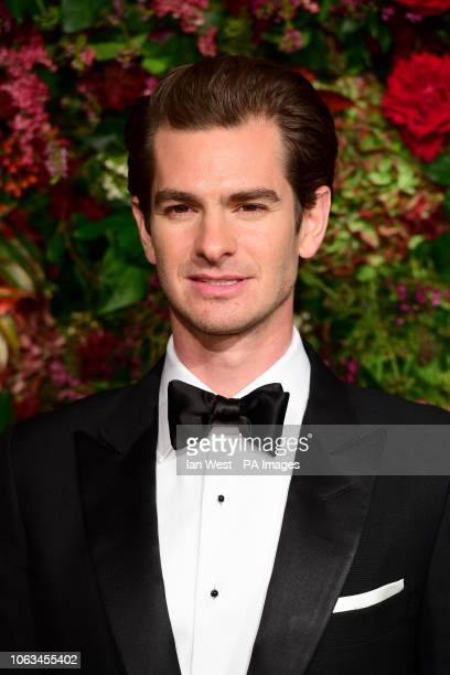 Andrew Garfield attending the Evening Standard Theatre Awards 2018 at the Theatre Royal Drury Lane in Covent Garden London