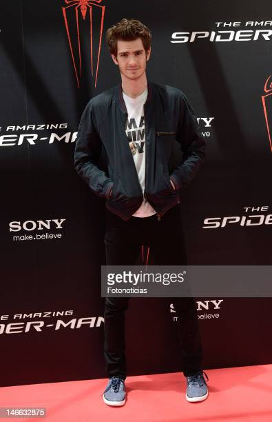 Andrew Garfield attends a photocall for 'The Amazing SpiderMan' at the Villamagna Hotel on June 21 2012 in Madrid Spain