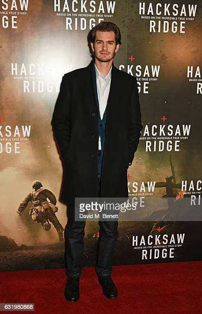 Andrew Garfield attends a special screening of 'Hacksaw Ridge' at the Picturehouse Central on January 18 2017 in London England