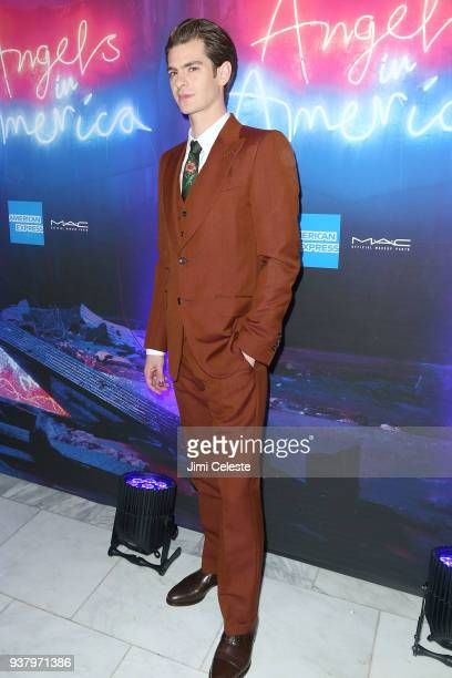 Andrew Garfield attends Broadway opening night of 'Angels in America' after party at Espace on March 25 2018 in New York City