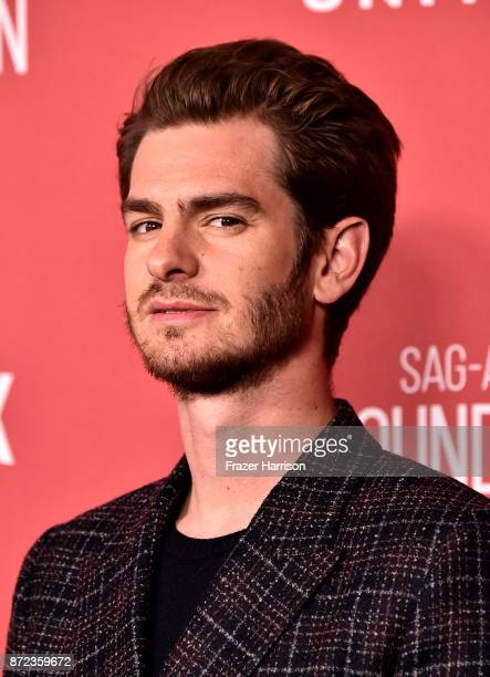 Andrew Garfield attends SAGAFTRA Foundation Patron of the Artists Awards at the Wallis Annenberg Center for the Performing Arts 2017 on November 9...