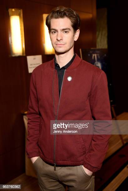 Andrew Garfield attends the 2018 Tony Awards Meet The Nominees Press Junket on May 2 2018 in New York City