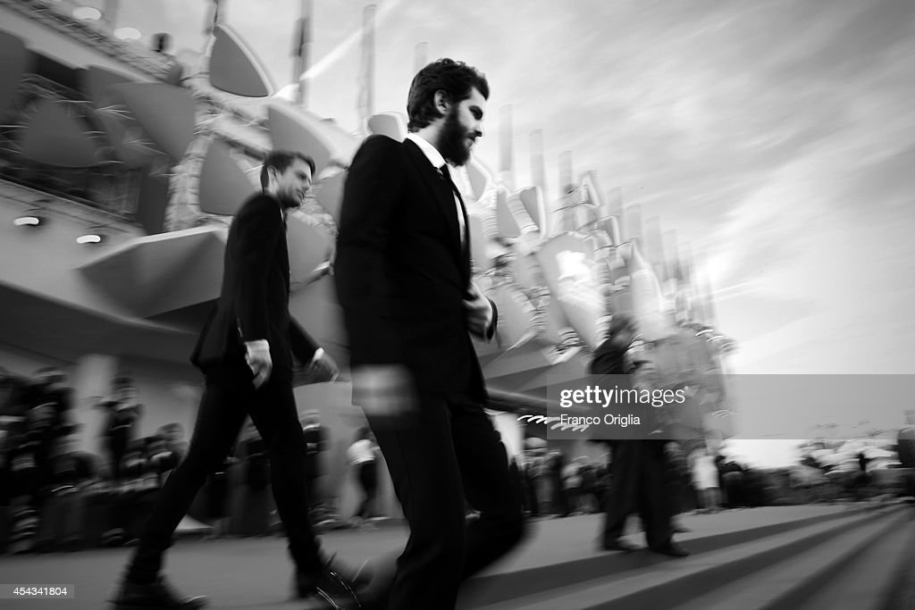 Andrew Garfield attends the '99 Homes' Premiere during the 71st Venice Film Festival on August 29, 2014 in Venice, Italy.
