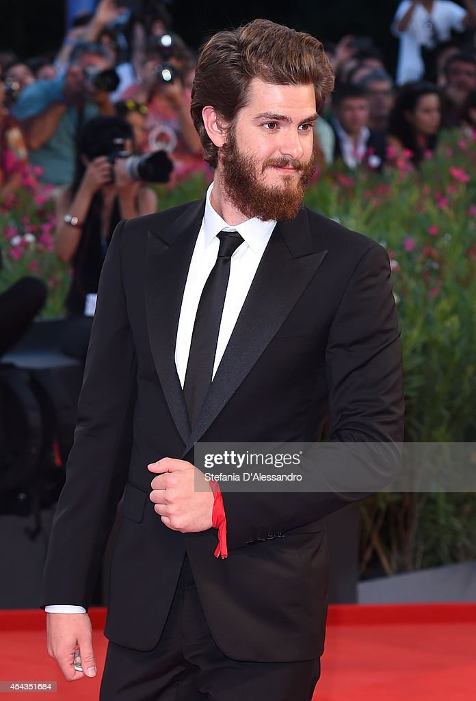 Andrew Garfield attends the '99 Homes' Premiere during the 71st Venice Film Festival at Sala Grande on August 29, 2014 in Venice, Italy.