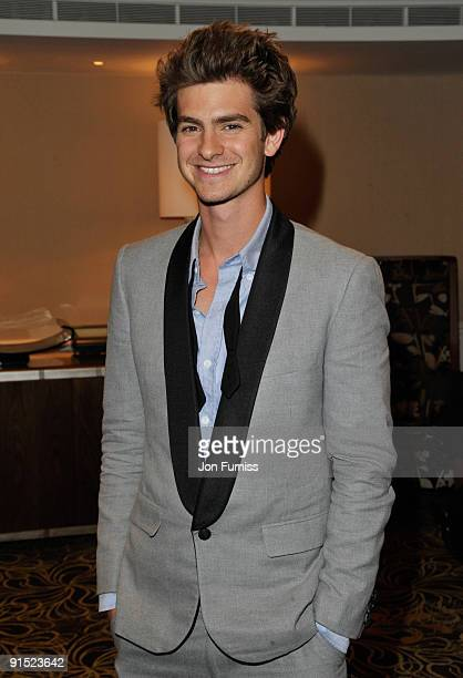 Andrew Garfield attends the after party for the UK Premiere of 'The Imaginarium Of Doctor Parnassus' at the Langham Hotel on October 6, 2009 in...