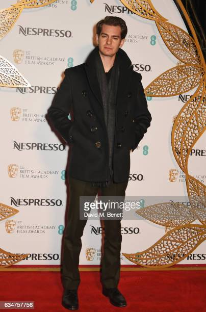 Andrew Garfield attends the BAFTA nominees party hosted by Nespresso at Kensington Palace on February 11 2017 in London England