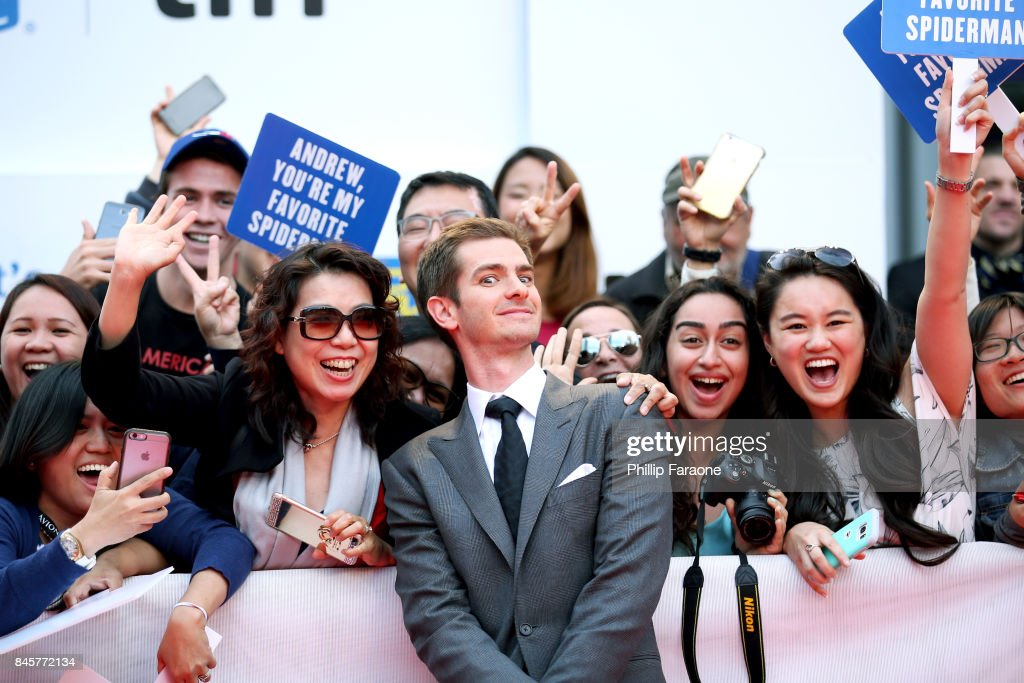 Andrew Garfield attends the 'Breathe' premiere during the 2017 Toronto International Film Festival at Roy Thomson Hall on September 11, 2017 in Toronto, Canada.