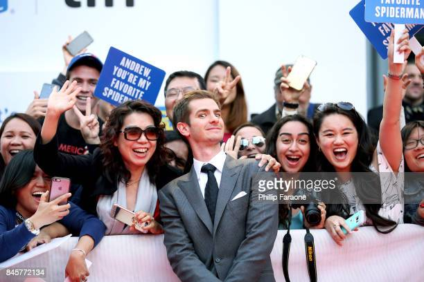 Andrew Garfield attends the 'Breathe' premiere during the 2017 Toronto International Film Festival at Roy Thomson Hall on September 11 2017 in...