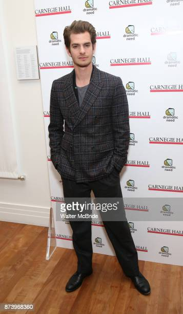 Andrew Garfield attends The Children's Monologues at Carnegie Hall on November 13 2017 in New York City