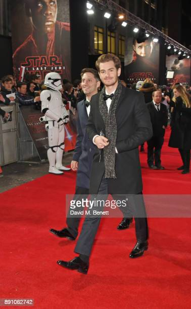 Andrew Garfield attends the European Premiere of 'Star Wars The Last Jedi' at the Royal Albert Hall on December 12 2017 in London England