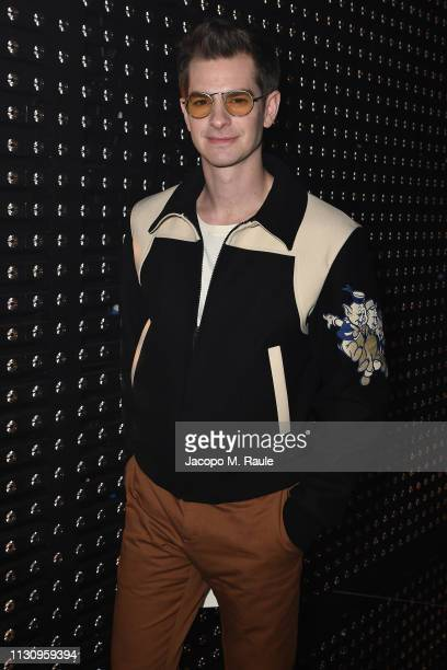 Andrew Garfield attends the Gucci show during Milan Fashion Week Autumn/Winter 2019/20 on February 20 2019 in Milan Italy