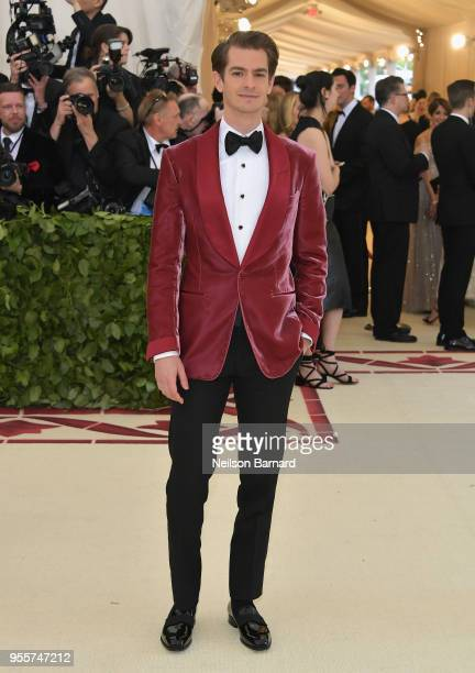 Andrew Garfield attends the Heavenly Bodies Fashion The Catholic Imagination Costume Institute Gala at The Metropolitan Museum of Art on May 7 2018...