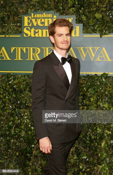 Andrew Garfield attends the London Evening Standard Theatre Awards 2017 at the Theatre Royal Drury Lane on December 3 2017 in London England