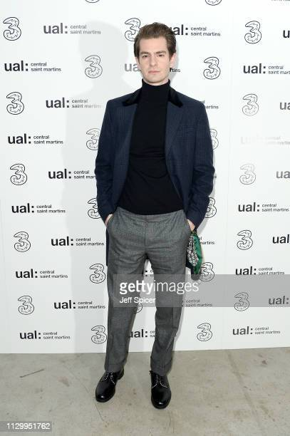 Andrew Garfield attends the Three Fashion Fuelled by 5G After Party following the Central St Martins MA Show during London Fashion Week at Central St...