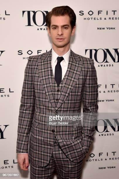 Andrew Garfield attends the Tony Honors Cocktail Party Presenting The 2018 Tony Honors For Excellence In The Theatre And Honoring The 2018 Special...