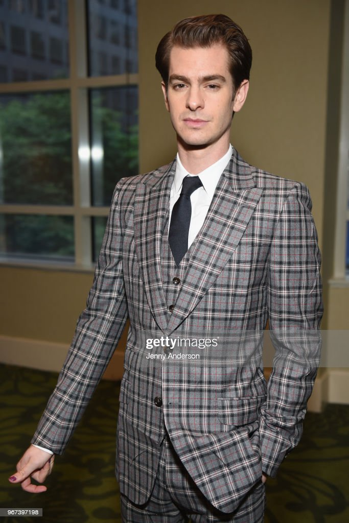 Andrew Garfield attends Tony Honors Cocktail Party Presenting The 2018 Tony Honors For Excellence In The Theatre And Honoring The 2018 Special Award Recipients at Sofitel Hotel on June 4, 2018 in New York City.