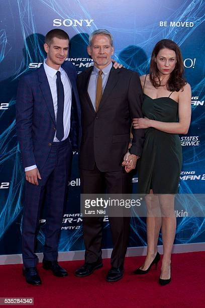 Andrew Garfield Campbell Scott and Kathleen McElfresh attend 'The Amazing SpiderMan 2' New York Premiere ath the Ziegfeld Theatre in New York City ©...