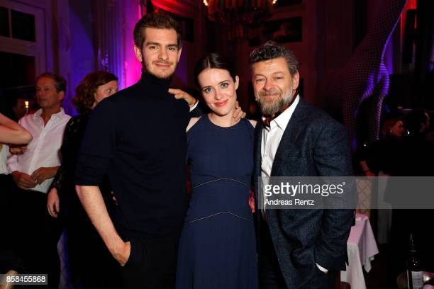 Andrew Garfield Claire Foy and Andy Serkis attend the Tommy Hilfiger VIP Dinner in celebration of the 13th Zurich Film Festival on October 6 2017 in...