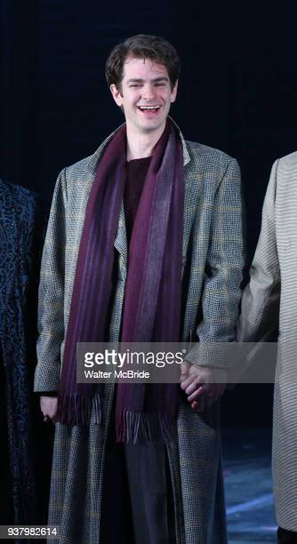 Andrew Garfield during the 'Angels in America' Broadway Opening Night Curtain Call Bows at the Neil Simon Theatre on March 25 2018 in New York City