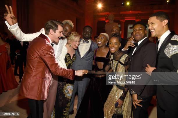 Andrew Garfield Emilia Clarke Daniel Kaluuya Cynthia Erivo Letitia Wright John Boyega and Trevor Noah attend the Heavenly Bodies Fashion The Catholic...