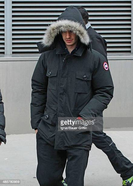 Andrew Garfield is seen on the movie set on February 25 2013 in New York City