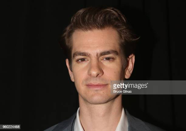 Andrew Garfield poses at The 2018 Drama League Awards at The Marriott Marquis Times Square on May 18 2018 in New York City