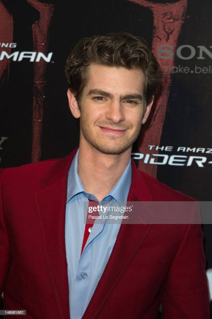 Andrew Garfield poses during 'The Amazing Spider-Man' Paris Film premiere at Le Grand Rex on June 19, 2012 in Paris, France.